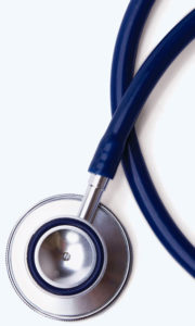 stethoscope with blue strap